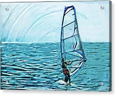 Wind Surfer Acrylic Print by Tilly Williams