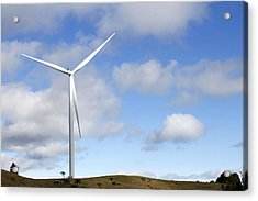 Wind Turbine  Acrylic Print by Les Cunliffe