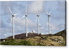 Wind Turbines At The Ascension Acrylic Print by Stocktrek Images