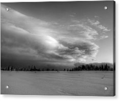 Acrylic Print featuring the photograph Windblown Cloud by Michele Cornelius