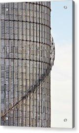 Winding Aluminum Stairs Acrylic Print by Ryan McGinnis