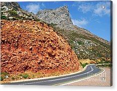Winding Road Between Gordon's Bay And Betty's Bay Acrylic Print by Sami Sarkis