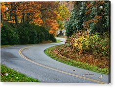 Acrylic Print featuring the photograph Winding Road by Joan Bertucci