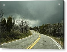 Winding Two Lane Road Acrylic Print by Ned Frisk
