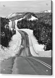 Winding Winter Roads Acrylic Print by Peter Bowers