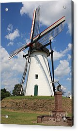Windmill And Blue Sky Acrylic Print by Carol Groenen