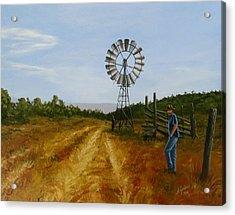 Windmill At Mandagery Acrylic Print