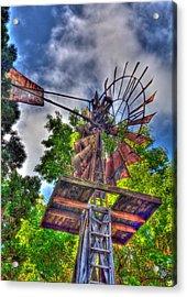 Windmill Hdr Acrylic Print