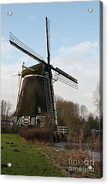 Acrylic Print featuring the digital art Windmill In Amsterdam by Carol Ailles
