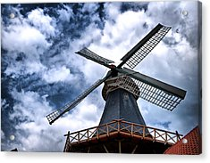 Windmill In Northern Germany 2 Acrylic Print by Edward Myers