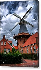 Windmill In Northern Germany Acrylic Print by Edward Myers