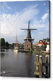 Acrylic Print featuring the photograph Windmill In The Nederlands by Karen Molenaar Terrell