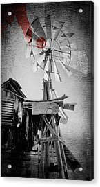 Windmill Acrylic Print by James Bethanis