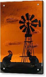 Windmill Acrylic Print by Lisa Kohn