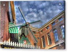 Windmill Of Amsterdam Acrylic Print by Barry R Jones Jr