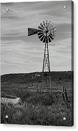 Windmill On The Plains Acrylic Print by Jason Drake