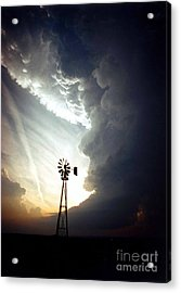 Windmill, Supecell Formation Acrylic Print by Science Source