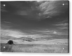 Acrylic Print featuring the photograph Windmills In The Distant Hills by Kathleen Grace