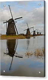 Windmills Acrylic Print by Javier Luces