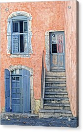 Acrylic Print featuring the photograph Window And Doors Provence France by Dave Mills