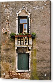 Window Art Venice Acrylic Print by Forest Alan Lee