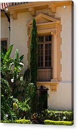 Acrylic Print featuring the photograph Window At The Biltmore by Ed Gleichman