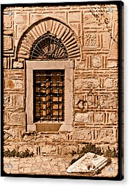 Athens, Greece - Window Break Acrylic Print