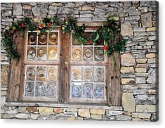 Window In The Old Mill Acrylic Print by Jan Amiss Photography