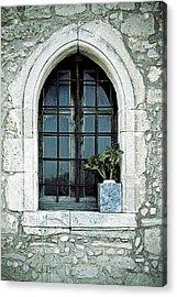 Window Of A Chapel Acrylic Print by Joana Kruse