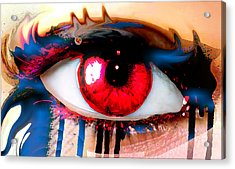 Window Of The Soul - Love Acrylic Print by Eleigh Koonce