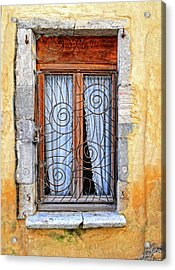 Acrylic Print featuring the photograph Window Provence France by Dave Mills