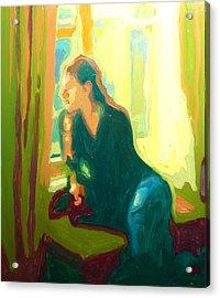 Window Seat Afternoon Light Acrylic Print by Thomas Bertram POOLE