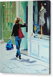 Window Shopping Acrylic Print by Neil McBride