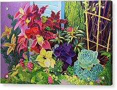 Window Sill Blooming Acrylic Print