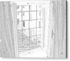 Window To History Acrylic Print by Michael Belgeri