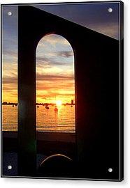 Window To The Bay Acrylic Print by Satya Winkelman