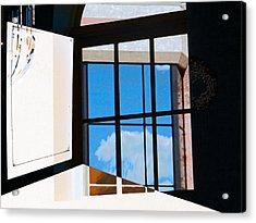 Window Treatment Acrylic Print by Lenore Senior