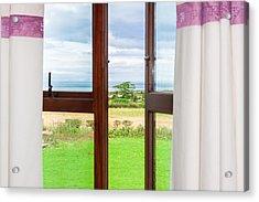 Window View Acrylic Print by Semmick Photo