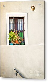 Window With White Frame And Vases Acrylic Print by Silvia Ganora