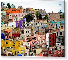 Windows In Guanajuato  Acrylic Print