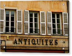 Acrylic Print featuring the photograph Windows Of Antiquites by Laurel Talabere