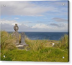 Acrylic Print featuring the photograph Windswept Grave by Cheri Randolph