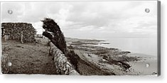 Windswept Machrihanish Acrylic Print by Jan W Faul