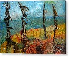 Windswept Pines Acrylic Print