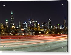 Windy City Fast Lane Acrylic Print