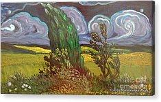 Windy Day Acrylic Print by Anna Folkartanna Maciejewska-Dyba