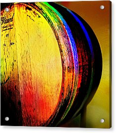 Wine Barrel Acrylic Print by Cindy Edwards