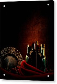 Wine Break Acrylic Print by Lourry Legarde