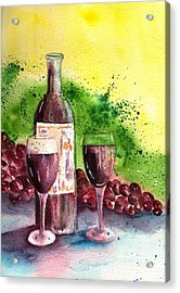 Wine For Two - 2 Acrylic Print by Sharon Mick