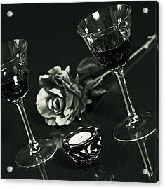 Wine For Two Acrylic Print by Joana Kruse